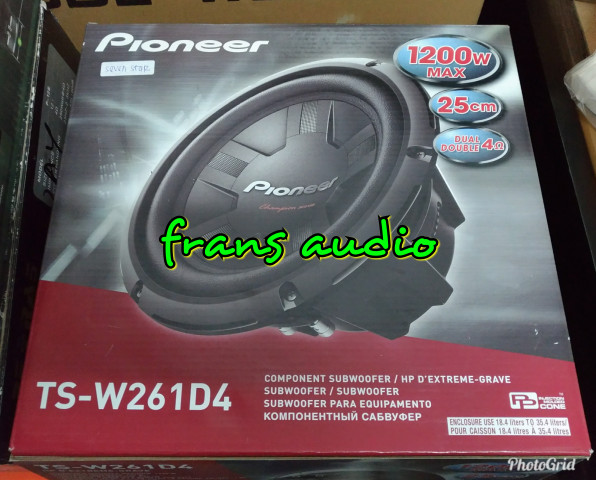 harga Subwofer pioneer ts w261d4 pioneer w261 subwoofer 10 inci double coil Tokopedia.com
