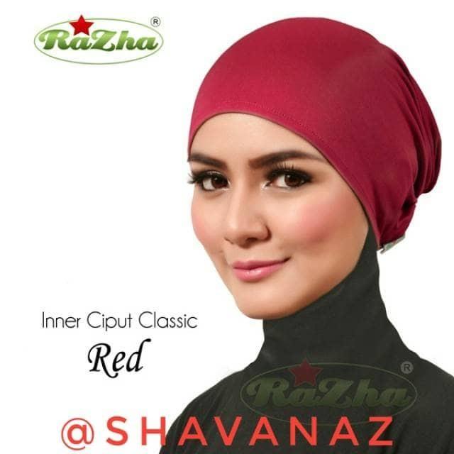 Razha Inner Ciput Classic Red/ Anti Pusing Serap Keringat Merah