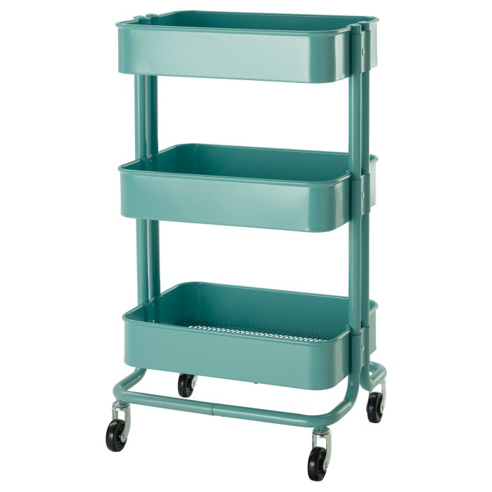 harga Ikea raskog troli trolley rak barang 3 tiga tingkat Tokopedia.com
