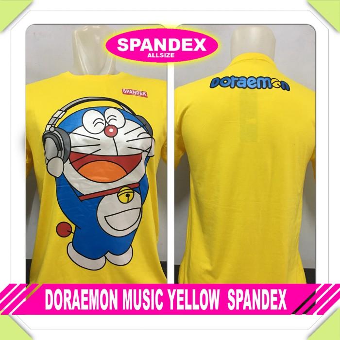 harga Kaos Baju Anime Superhero Doraemon Music Yellow Tokopedia.com