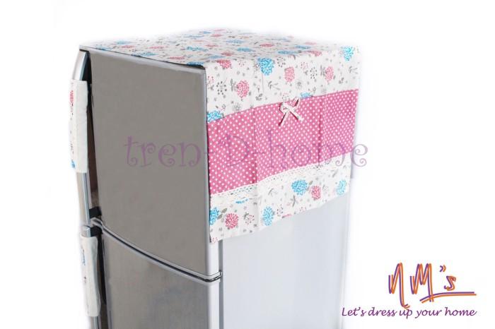 harga Tutup kulkas 133cm x 54cm+2pcs sarung pegangan kulkas 25cm x 15cm-pink Tokopedia.com