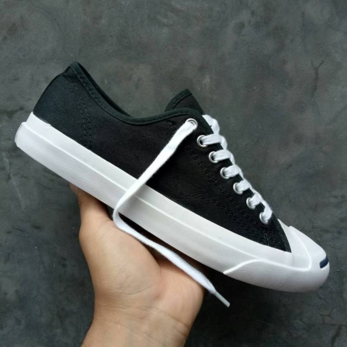 Jual Sepatu Converse Allstar Jack Purcell Low Canvas Black White ... 5a06e2f731
