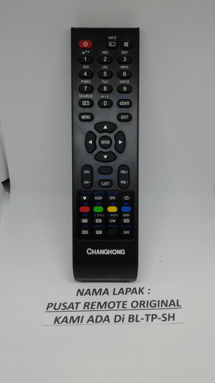 REMOTE REMOT TV CHANGHONG LED LCD ORIGINAL ASLI