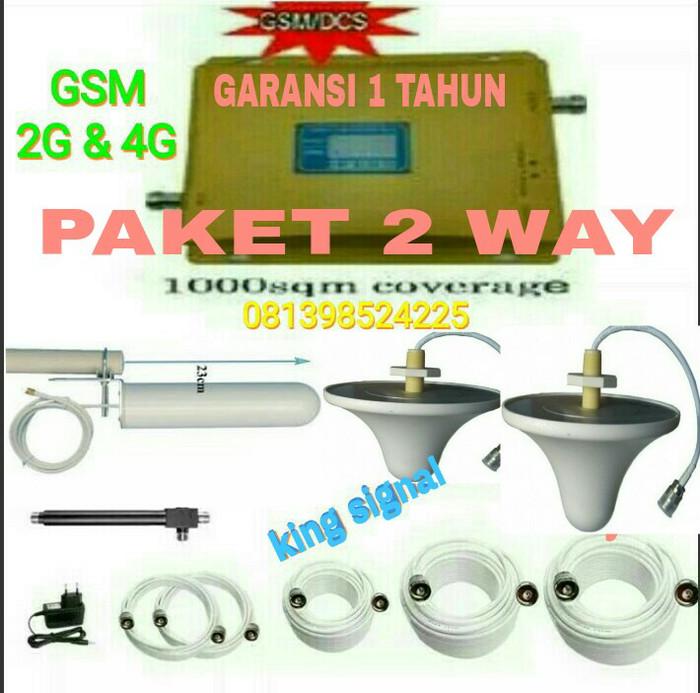 harga Penguat sinyal hp gsm 2g 4g dualband / repeater signal hp 2way Tokopedia.com