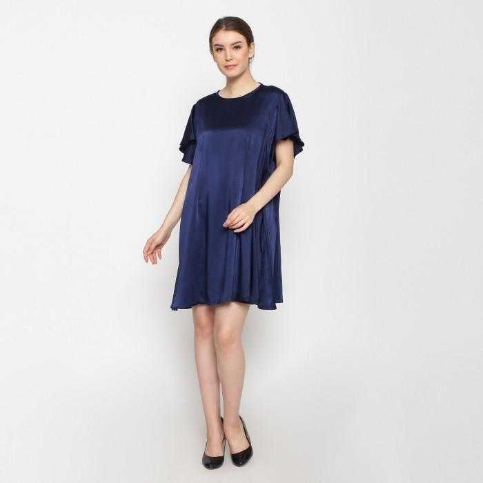 Just mom baju hamil menyusui sofia navy blue sf103