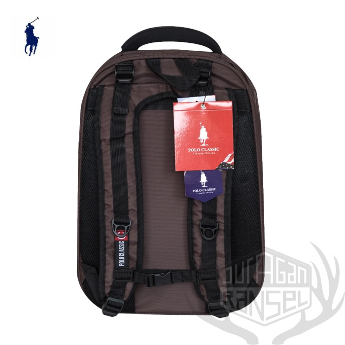 Jual Tas Laptop Backpack Ransel Pria Polo Classic 136 Expanding (L ... 131519762c