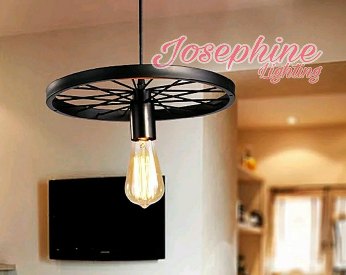 Lampu Gantung Unik Roda Industrial 670 - 1L