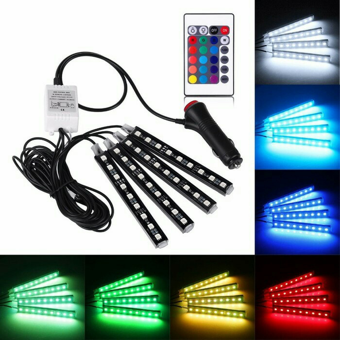 harga 4pc drl led kolong lampu dekorasi dashboard 16 warna plus remote Tokopedia.com