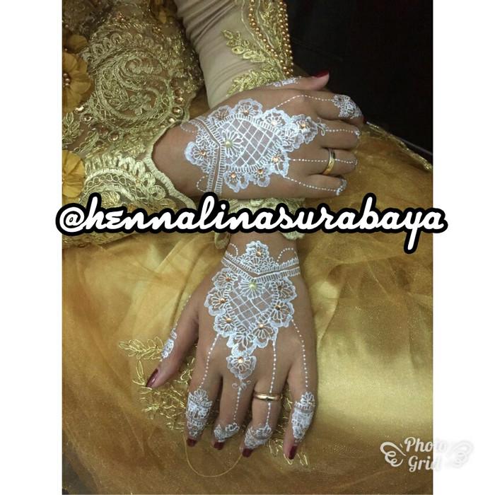 Jual Jasa Henna Wedding White Henna Free Gems Glitter Lina Henna