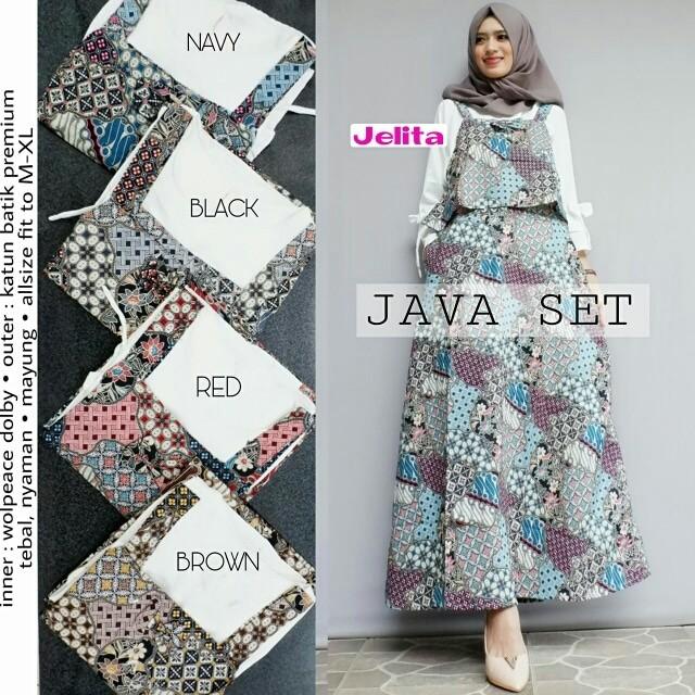 Jual Java Set Overall Batik Ootd Hijab By Jelita Kota Yogyakarta Dapis Shop Tokopedia