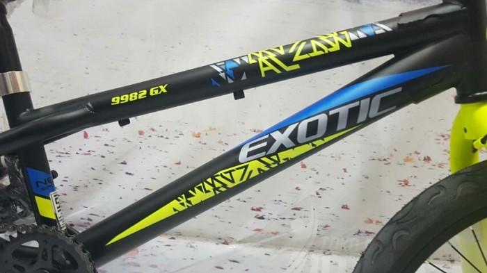 SEPEDA BMX EXOTIC 9982 GX REM TORPEDO 20 INCI FREESTYLE BLACK/YELLOW