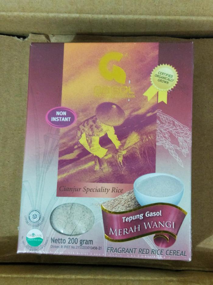 harga Gasol tepung beras merah wangi organik 200gram bubur mpasi bayi Tokopedia.com