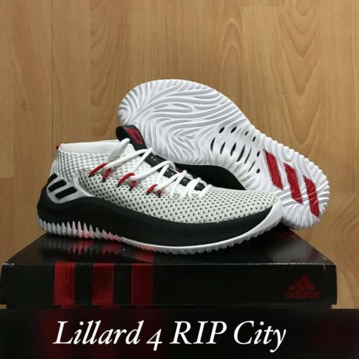 sports shoes e0ee4 19965 sepatu basket adidas dame 4 lillard rip city
