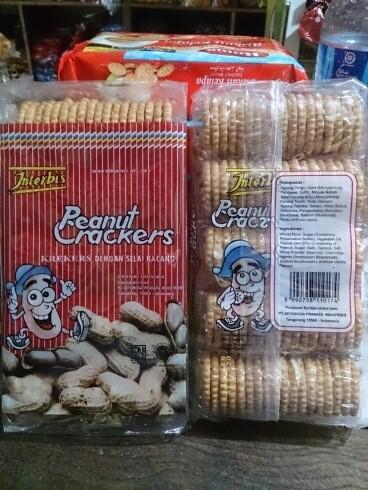Foto Produk Biskuit kacang(peanut crackers) 300 gr dari yosim