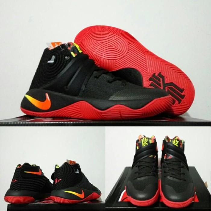 new product 52073 9d2c5 Sepatu Basket Kyrie 2 Dream Black Red Hitam Merah