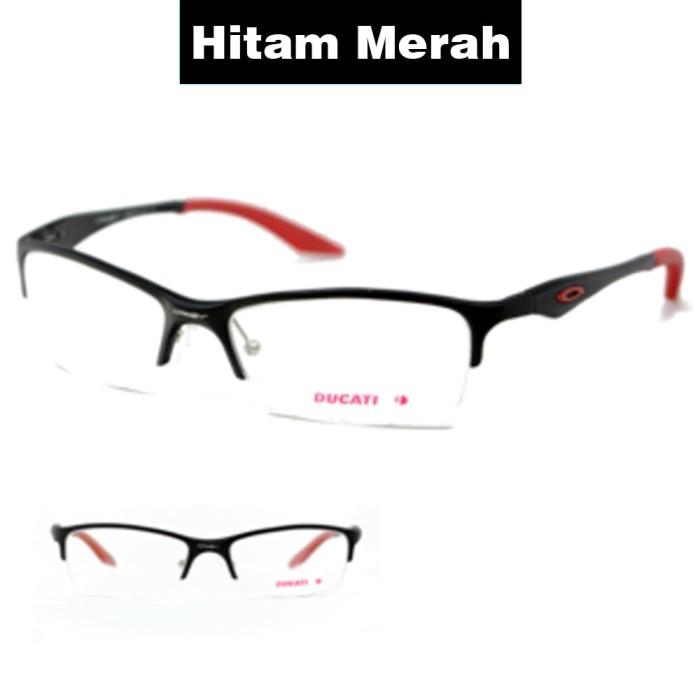 Frame Kacamata Pria Sporty Ducati Titanium Hitam Merah Bisa Dipasang ... 8ea2b762a7