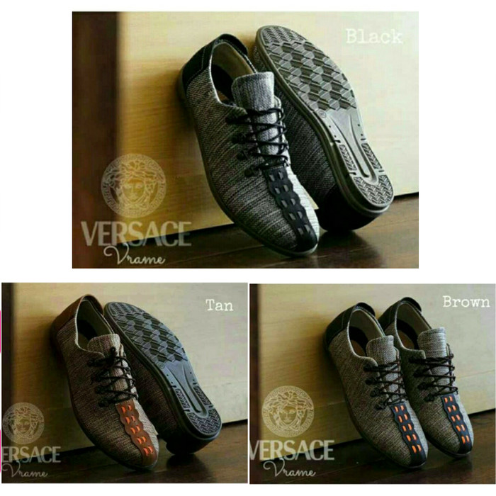 Sepatu sneakers pria terbaru versace vrame - canvas high qualtity 8902fd1a53
