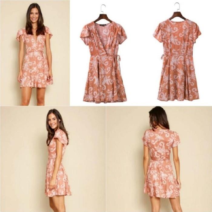 5460a0fc Jual DSJT217121273644 - MINI DRESS ZARA - DRESS BOHEMIAN ORANGE ...