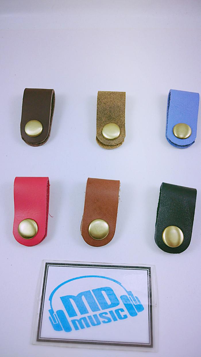 Jual Original Klip Kabel Kulit Asli Penjepit Leather Cable Earphone Clip Headset Clips Hitam