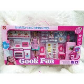 Jual Promo Mainan Masak Masakan Dapur Kitchen Set Barbie Chief Kota Batam Toys Kita Tokopedia