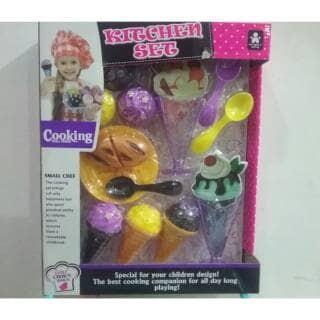 Jual Promo Mainan Anak Kitchen Set Ice Cream Tools Cooking Small Genius Kota Batam Toys Premium Tokopedia