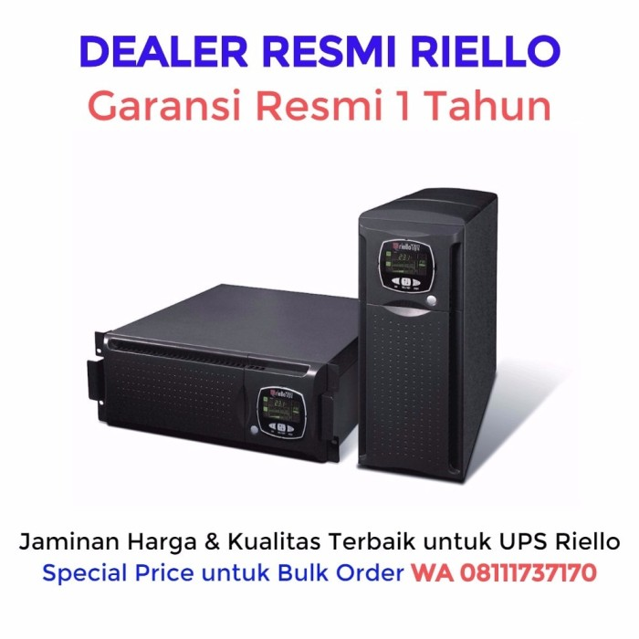 harga Ups riello sentinel dual 6000va / 4200 watt (made in italy) Tokopedia.com