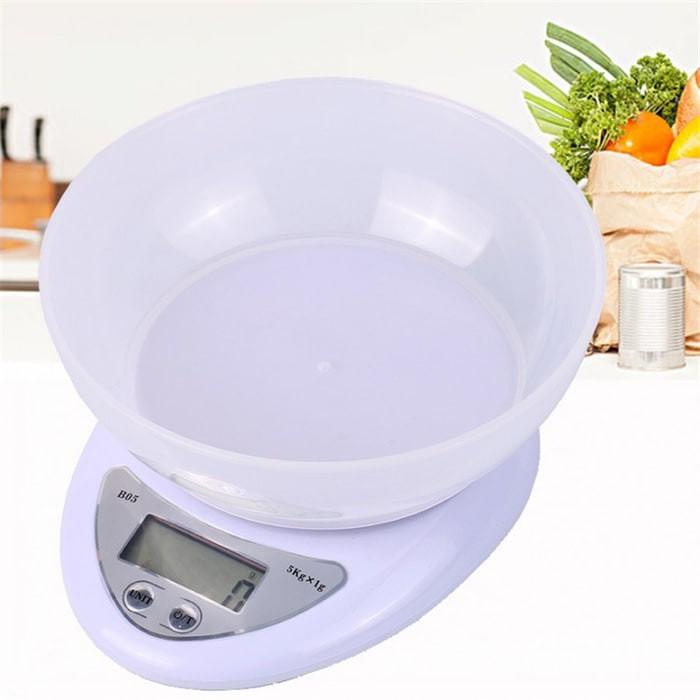 Lynx Timbangan Dapur Digital 5KG Kitchen Scale Plus Mangkok B05