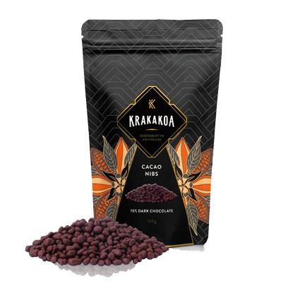 Foto Produk Gourmet Nibs, 70% Dark Chocolate dari Krakakoa Official