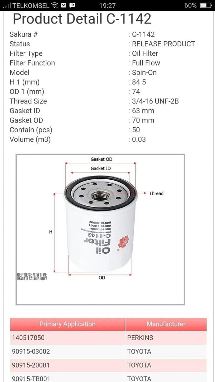 3472 Fuel Filter Part Number Ford