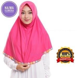 harga Hijab instan jilbab kerudung najwa floweria / jilbab najwa renda bunga Tokopedia.com