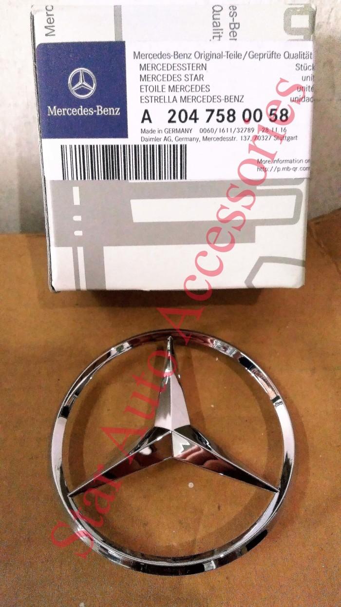 Leadsea 3d Sticker Kompressor Chrome Badge Emblem For Mercedes Benz Comport Carpet Karpet Mercy E400 Deluxe 12cm Lambang Bagasi Bintang W204 Original
