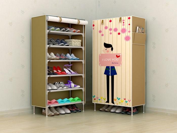 harga Rak sepatu / lemari sepatu kain portabel Tokopedia.com