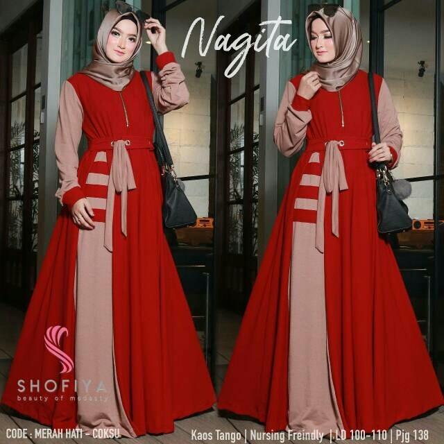 Jual Gamis Nagita Dress Long dress gamis syari ori shofiyah ... 6ffcad9cf9