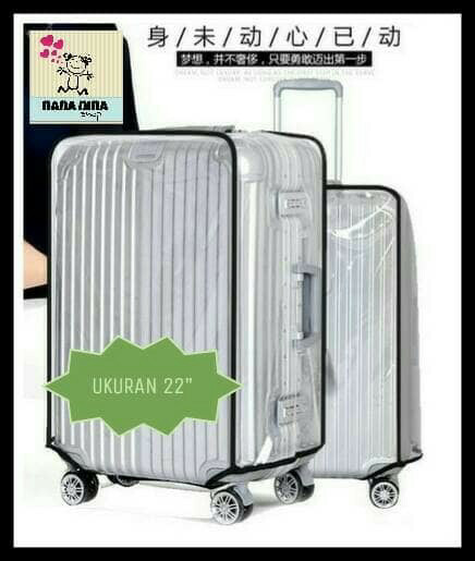 harga Sarung koper plastik mika transparan luggage cover 22 inchi Tokopedia.com