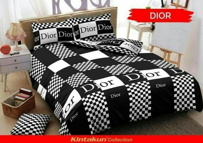 Kintakun d'luxe dior king 180 no.1 sprei black n white