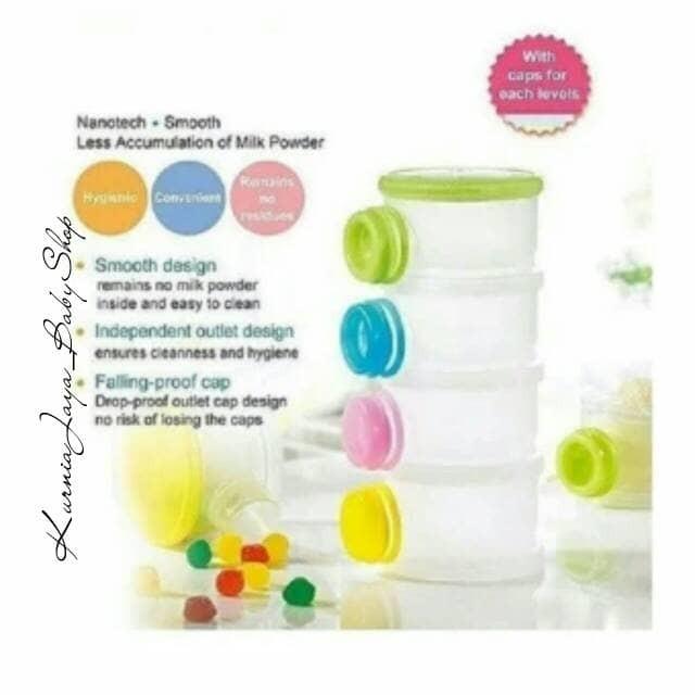 Pumpee Stylish Milk Powder Container 3 Layer Tempat Susu Formula Source · Milk Container