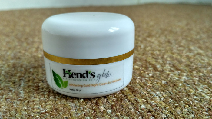 Hend's Glow Whitening Gold Night Cream For Melasma