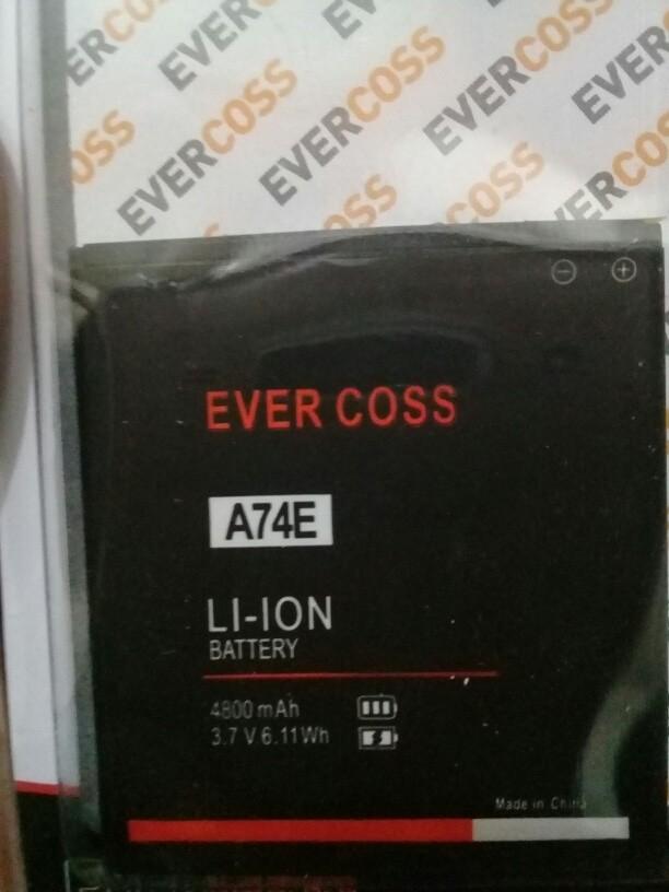 Batre baterai for evercoss a74e original double power