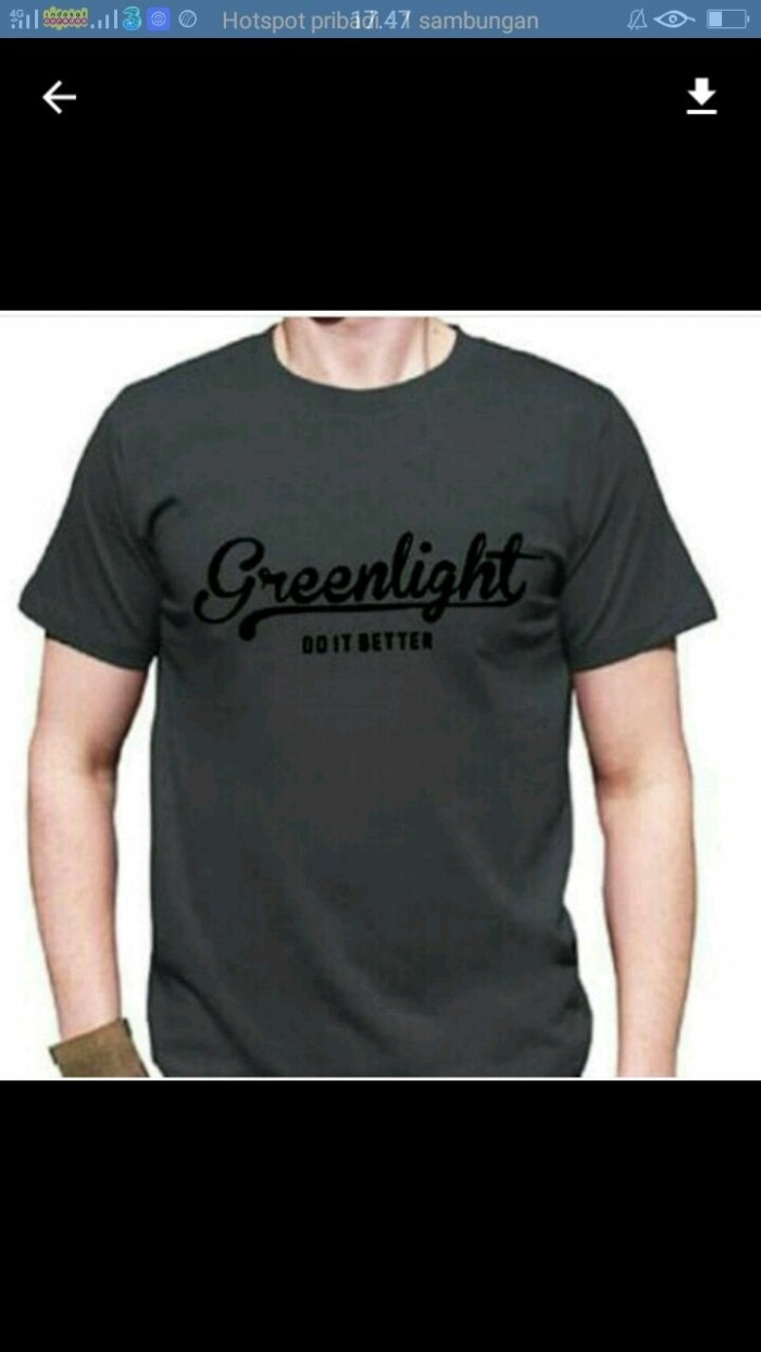 T-shirt / Kaos BIG SIZE BERKUALITAS XXXL-XXXXL GREEN LIGHT