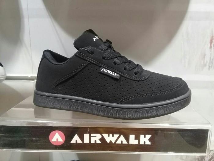 sepatu airwalk anak hitam polos sepatu sekolah anak sd sepatu tali