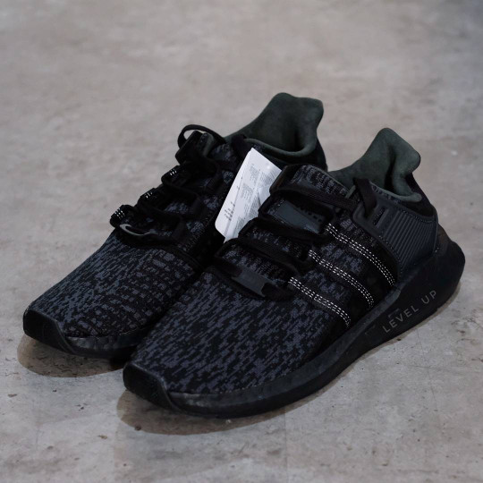 86aa8bbf2107 ... store adidas eqt support 93 17 triple black 811bc 7032a