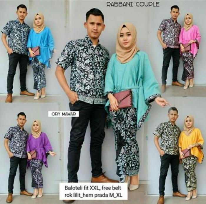 Jual Baju Batik Couple Kebaya Batik Rabbani set Rok Panjang Kemeja ... 2246ea83dc
