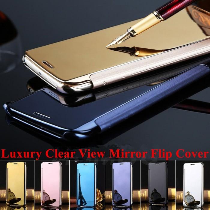 harga Flip smart mirror samsung note 4 autolock case cover miror galaxy Tokopedia.com