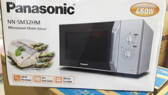 Microwave Oven Panasonic Nn Sm32hm Low Watt 450w 25 Liter Silver New
