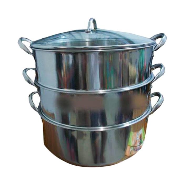 Panci kukus / steamer supra 3 susun diameter 36 cm