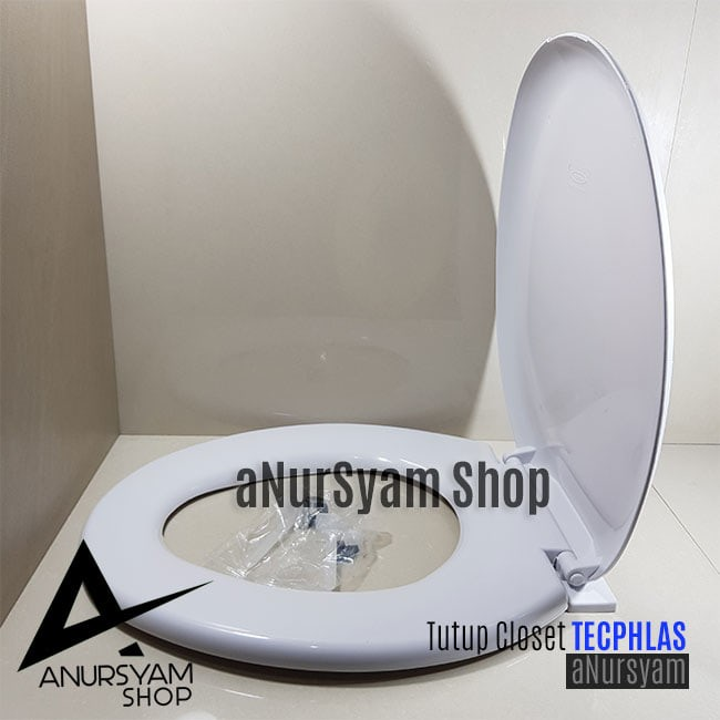Toilet seat and cover techplas / tutup closet