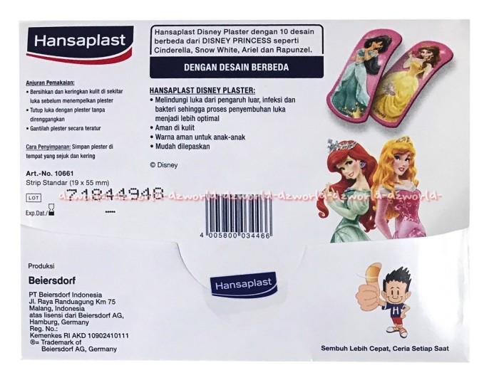 Hansaplast Kids Motif Disney Princes Plaster Luka Obat Luka Isi 7