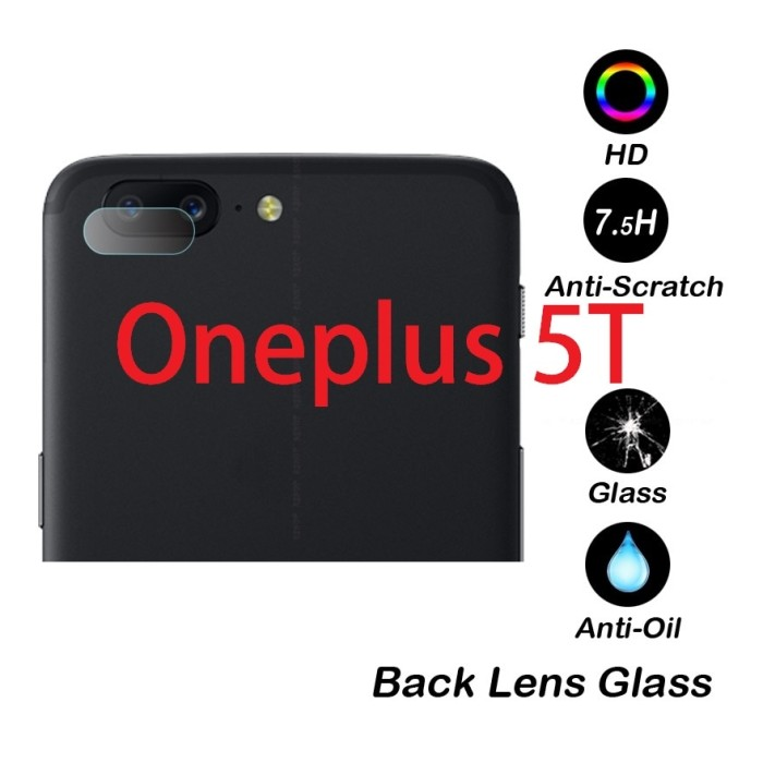 Foto Produk Oneplus 5T - Camera Lens Transparent Clear Tempered Glass dari Bro Papao