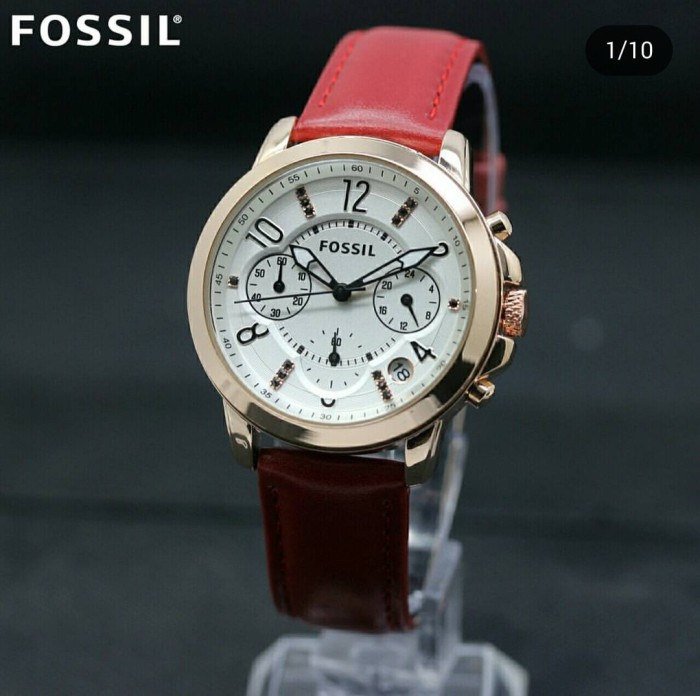 Fossil Cecile Analog Champagne Dial Womens Watch Am 4499i Daftar Source · Jam Tangan Wanita Cewek Fossil Chrono Leather Red Case Rose Gold