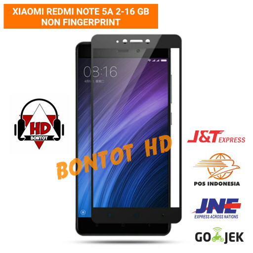 harga Xiaomi redmi note5a note 5a 2-16 gb tempered glass color full layar hp Tokopedia.com